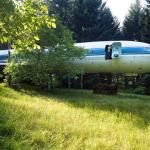 Самолет, превращенный в жилой дом